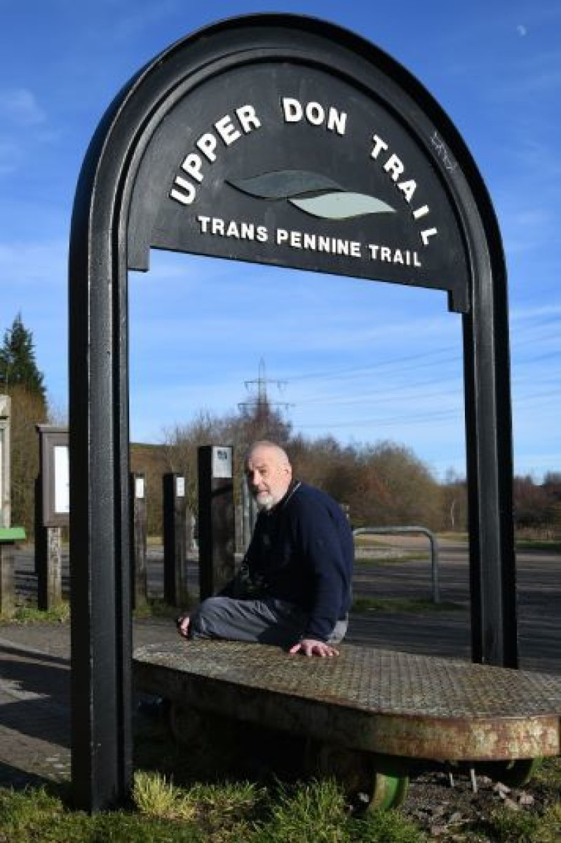 WORRIED MAN: Doug Brown at the Dunford Bridge Trans Pennine Trail site. Picture: Wes Hobson. PD086696