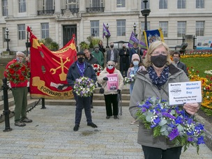 Main image for Trade union members pay tribute to lives lost