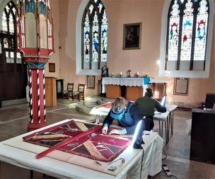 Main image for Barnsley Pals' historic flags restored