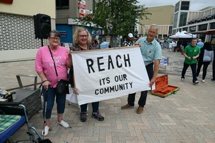 Main image for Campaigners stage town centre protest