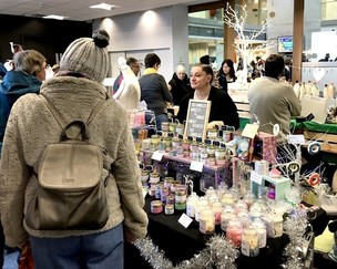 Main image for Busy day of trading at crafters' market day