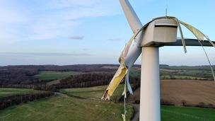 Main image for Damaged wind turbine still a 'danger'