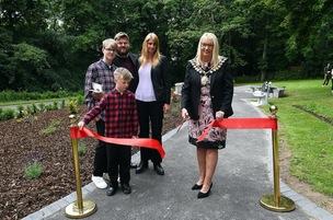Main image for Memorial garden opens in teen's memory