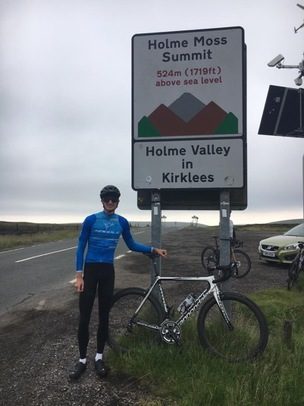 Main image for Cyclist climbs Everest equivalent for charity
