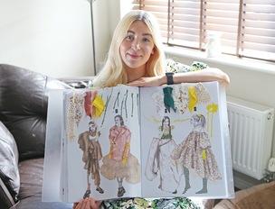Main image for Barnsley designer's dress worn by pop star