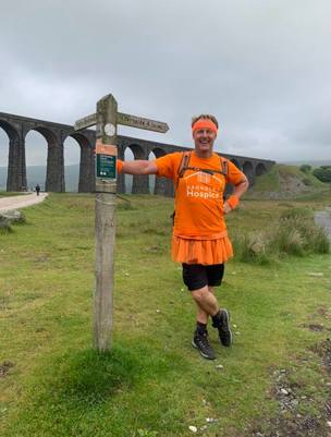 Main image for Three peaks no match for hospice fundraiser