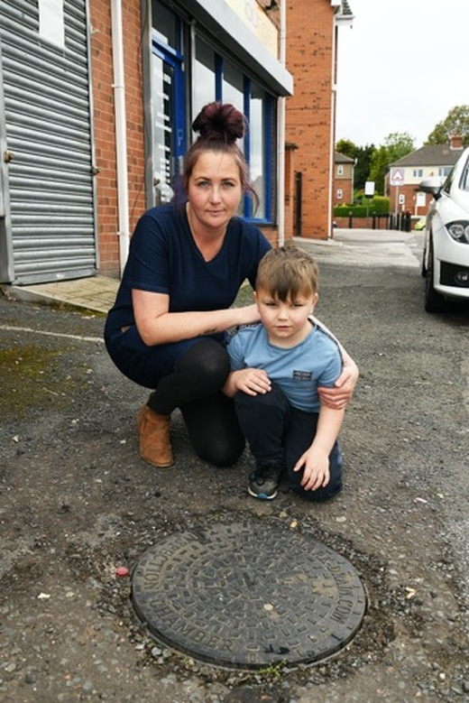 Main image for Youngster injured in manhole cover accident