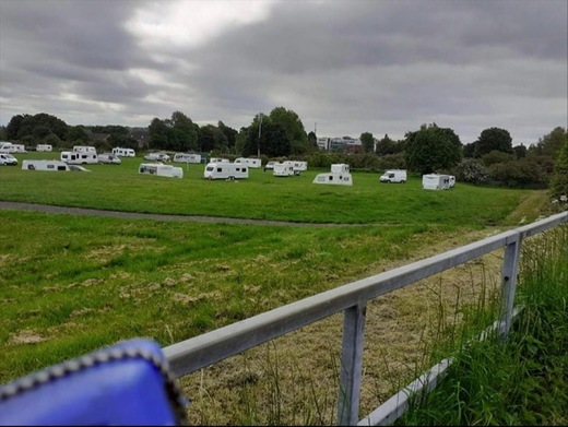 Main image for Travellers set up camp in Pogmoor