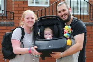 Main image for Joy after little Hope returns home