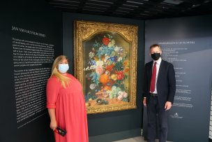 National Gallery exhibitions manager Gracie Divall with Barnsley Central MP Dan Jarvis.