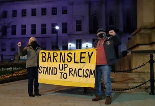 Main image for Anti-racism protest held outside town hall