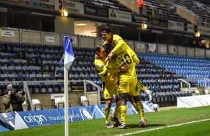 Main image for Dike double as Barnsley win despite Mowatt red card