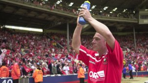 Main image for Hignett last Englishman to score at old Wembley