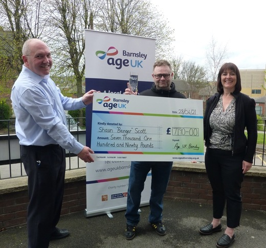 Main image for Local DJ raises £7,000 for Age UK's Barnsley branch