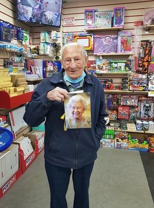 Main image for Royston man toasts 100th birthday