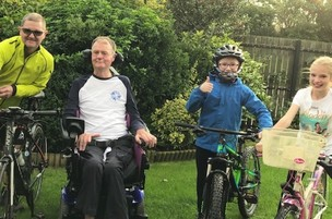 Main image for Cyclist Andy saddling up for 550km ride to raise charity cash