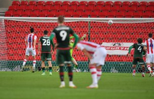 Main image for Woodrow stunner and Collins penalty save secure point in Stoke